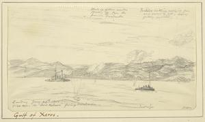Spotting for Lord Nelson, Firing at Gallipoli Port and Turkish Forts on the Straits, 5.30am, June 20th 1915