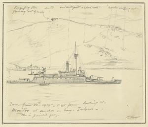 Monitor at Anchor in Bay, Imbros, 1.45pm, June 22nd 1915