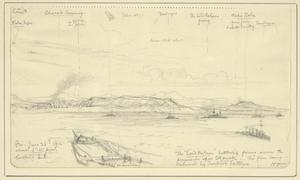 Spotting for Lord Nelson, Firing Across the Peninsula at Chanak Forts, Enemy Batteries Replying, About 5.15pm, June 25th 1915