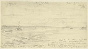 Looking North and North East from Kephalos Bay, 10.15am, June 30th 1915