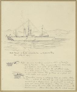 HMS Ark Royal and Tender Alongside Her in Kephalos Bay, July 2nd 1915