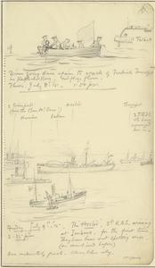 HMS Hector, 3rd Kite Balloon Section Arriving, 3.35pm, July 9th 1915