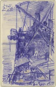 In Manica Looking Forward from the Poop Deck, 8.45pm, July 18th 1915