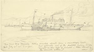 'Neuralia', Hospital Ship, Receiving Wounded Aboard, 6.15pm, July 21st 1915