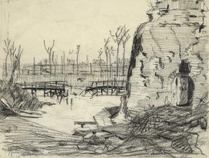 A Bombed Bridge Near Ypres