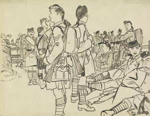 The Liverpool Scottish in Training, 1916