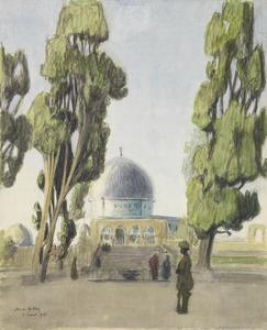 The Mosque of Omar : Indian sentries
