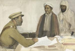Turkish Spies : an Intelligence Officer interrogating two spies