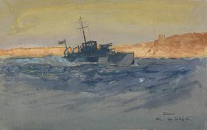 Sunrise. A Motor-launch off Gallipoli