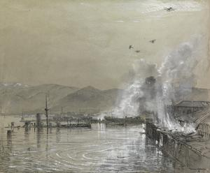 Seaplanes Bombing the Customs House, Beyrout