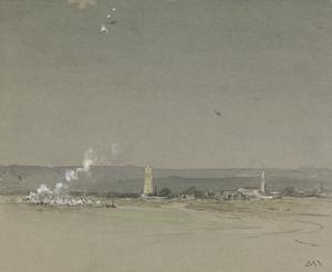 'St George for England'- British Seaplanes Bombing the Turks at Ramleh, Burial-place of St. George, 23 December 1916