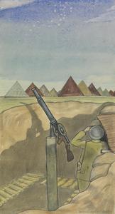 A Lewis Gun: Anti-aircraft Pit