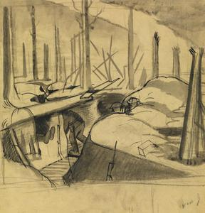Studies for Oppy Wood, 1917. (NO 2243)