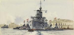 The Japanese Cruiser Nishin with U-boats, Malta