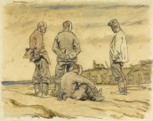 German Prisoners by the Roadside