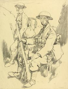 Men in the Trenches, near Hendicourt