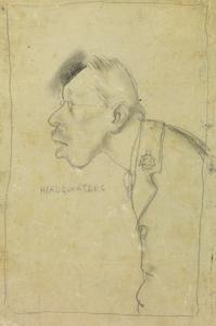"""Headquarters"" - A Caricature of Gordon Brinley Richards"