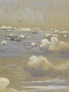 BE2C Aeroplanes over the Somme