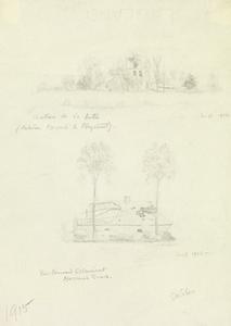 Chateau de la Hutte between Messines and Ploegsteert; The Forward Estaminet, Messines Road