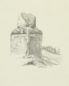 Stump of Sucrerie Chimney, North of Auchonvillers, October 1915