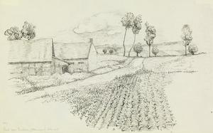 Road near Burbure (Allouagne), July 1915