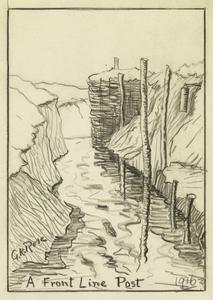 A Front Line Post, 1916