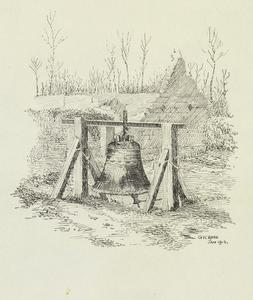 Hebuterne Church Bell Erected as a Gas Alarm, January 1916