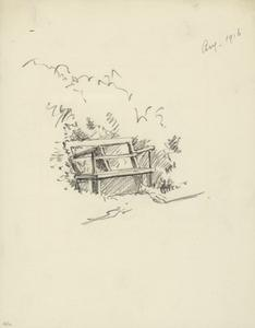 Sketch of Garden Seat, August 1916