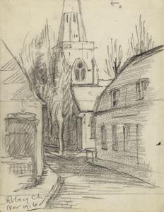 Robecq Church, November 1916