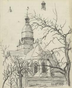 Vauvillers Church, February 19th 1917