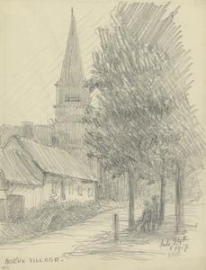 Noeux Village, July 24th 1917, 9.30pm