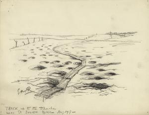 Track up to the Trenches near St Julien, Ypres, August 1917