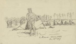 In Bivouacs behind Ypres, August 19th 1917