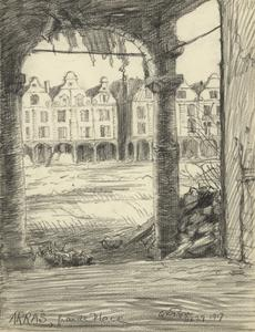 Arras, Grande Place, September 29 1917