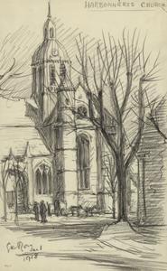 Harbonnieres Church, January 1 1918