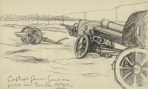 Captured German Guns Parked near Bourlon, October 1918
