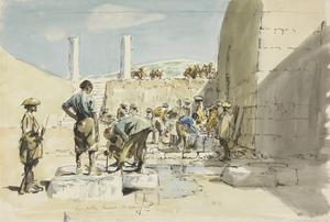 The Wells at Samaria : Indian troops fetching water during the advance
