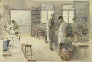 The Laboratory at Strand House, Portugal Street, London, 1917