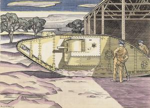 A Mark IV Tank - The Experimental Ground, Dollis Hill, London, N.W.