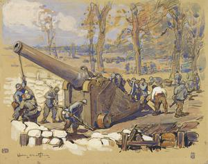 Soldiers and a Cannon