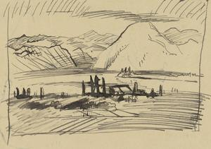 View over the Asiago Plateau, Italy, 1918