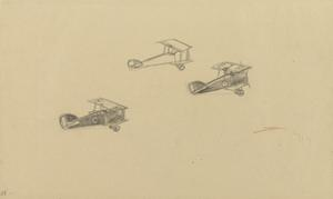 Three Sopwith Camels in Flight, 1918