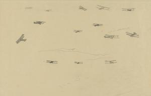 Sketch of Flying Aircraft, Italy, 1918