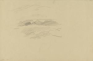 Slight Sketch of a Cloudscape over the Italian Alps, 1918