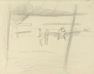 View from a Hangar, Italy, 1918