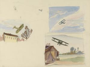 Three Studies of Flying Aircraft, Italy, 1918