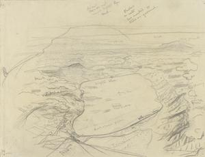 Annotated Preparatory Sketch for 'The Sea of Galilee', 1919 (IWM ART 3080)