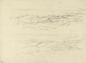 Annotated Sketches of Hills, Middle East, 1919