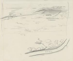 Rough Sketch of an Aerial View, Suez, 1919