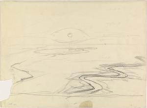 Aerial View of a River with Atmospheric Effects, 1919